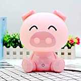 Night Lights for Kids - Baby Night Light, Lamps for Night Table Pink Pig Warm White with LED Touch Controls and 3 Kinds of Brightness Adjustment Baby Girl Boys Gifts