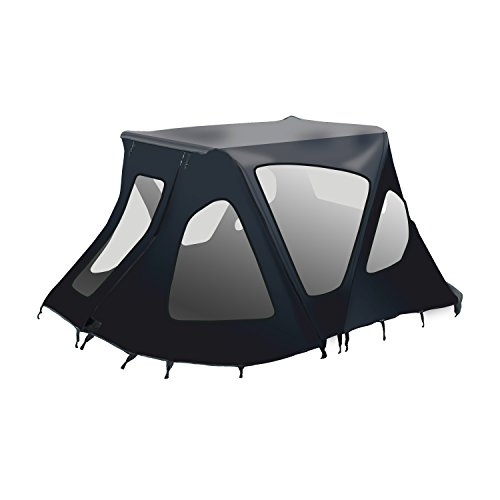 ALEKO BWTENT320BK Winter Canopy Boat Tent Sun Shelter Sunshade for Inflatable Boats 5 x 4.5 Feet Black