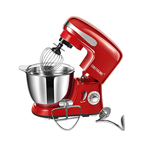 CHEFTRONIC Tilt-head Stand Mixers SM-986 120V/650W 5.5qt Bowl 6 Speed Kitchen Electric Mixer