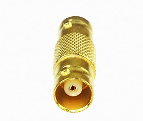 100PCS Gold BNC Female to Female straight-through join Coupler Coax Connector Extender RG6 RG59 video line connector for cctv