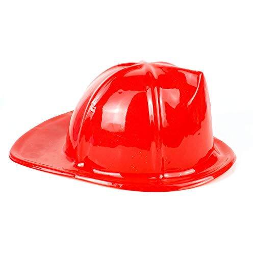 Fun Central AT828 12ct 10.5 Inch Firefighter Hats, Fun Kids Costume Hats, Costume Firefighter Hat, Kids Firefighter Hat, Plastic Firefighter Hat, Red]()