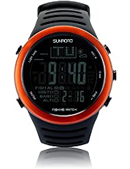 SUN ROAD SunRoad FR720A2 Fishing Digital Men Watch- Barometer Altimeter Thermometer Multifunctional Watch (Orange)