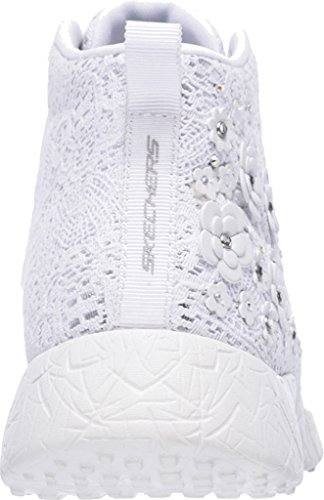 Skechers Burst Seeing Stars High Top Damen US 8 Weiß Turnschuhe