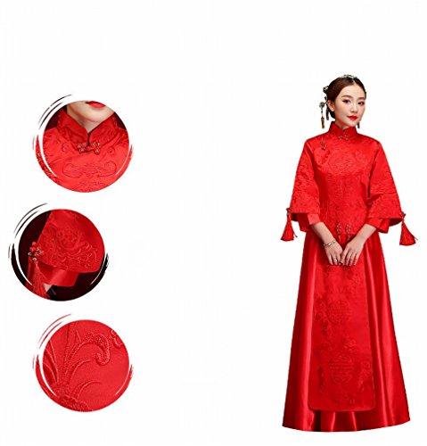 Zeigen Kleidung Kostüme Kleid Chinesische Braut Longfeng Toast Wo DHG Wo Hochzeit Kleid S Winter Rot Hochzeit ztnqa