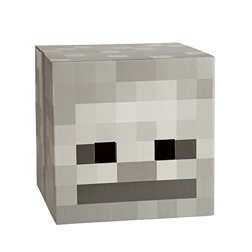 JINX Minecraft Skeleton Head Costume Mask (Minecraft Costume Head)