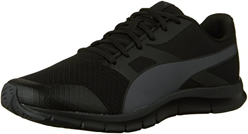 Sneaker da uomo Flexracer Fashion, Puma Black / Asphalt, 9 M US