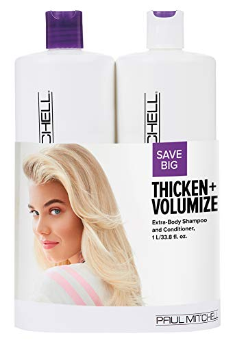 Paul Mitchell Thicken + Volumize Extra-Body Liter Duo Set ()