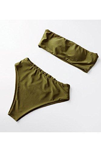 Triangolo 2 Donne Set Pezzi Costumi Armygreen Alto Beach In Tubo Bikini Le Vita fOIwzqI
