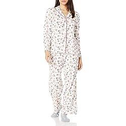 Karen Neuburger - Conjunto de Pijama de Manga Larga con Estampado Animal para Mujer, Crema para Perros, M
