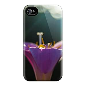 New Wild Violet Flower Tpu Case Cover, Anti-scratch BrnLRoon Phone Case For Iphone 4/4s