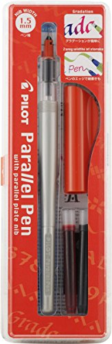 Pilot Parallel Pen 2-Color Calligraphy Pen Set, with Black and Red Ink Cartridges, 1.5mm Nib (90050)