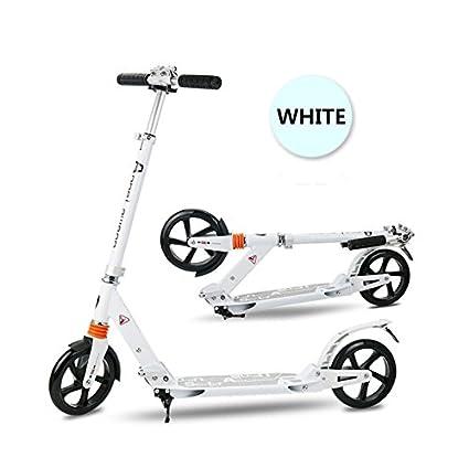 innotic niños adultos patinete de ciudad con grandes ruedas de 200 mm con avanzada primavera comodidad Sistema de suspensión función atril