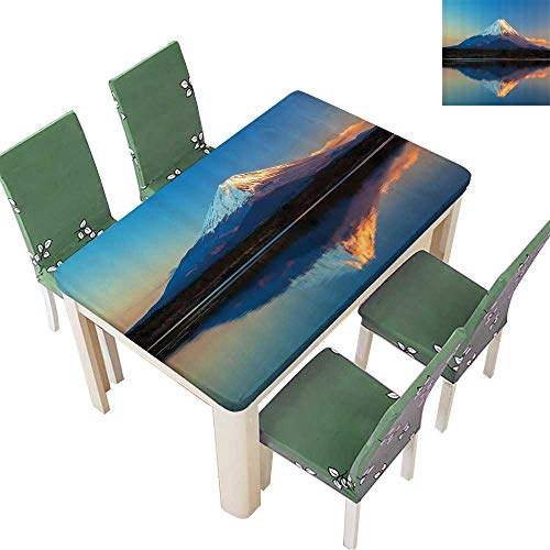 Printsonne Polyester Table Cloth llecti Mount Fuji and Lake Shoji Clear Sky Sun Table 50 x 102 Inch