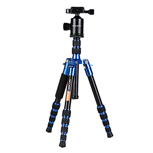 K&F Concept TM2235 DSLR Camera Tripod,50 inch Portable Travel Tripods Load Capacity 22.04 lbs with 360° Ball Head and Quick Release Plate (Blue)