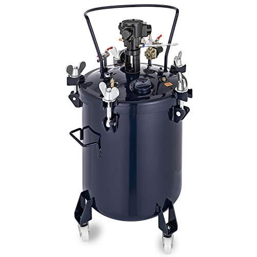 VEVOR Pressure Paint Pot 10 Gallon (40 liters) Pressure Pot Tank Spray Paint Pressure Pot Tank with Manual Mixing Agitator Paint Tank (10Gal 40L Manual)
