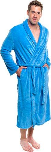 UPC 841478124979, Ross Michaels Mens Plush Shawl Collar Kimono Bathrobe Robe (Light Blue, L/XL)