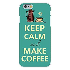 DaojieTM Generic Iphone 6 4.7 Inch Custom Case White Plastic Snap on - Keep Calm and Make Coffee Pitcher & Mug wangjiang maoyi