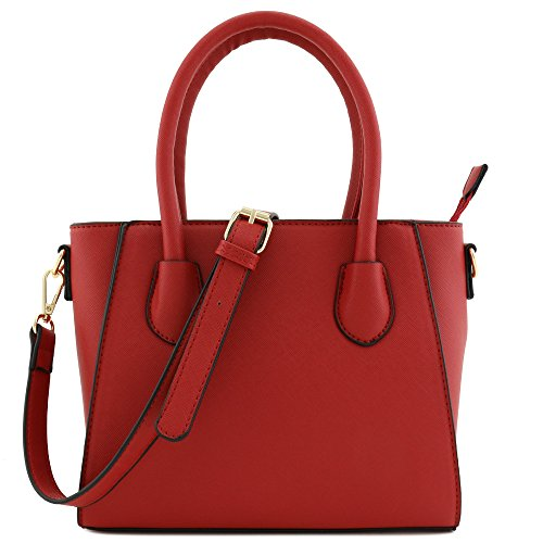 Satchel Handle Bag Set 2pcs Wallet Small with Red Saffiano Classic Around Zip Top 0tddYq