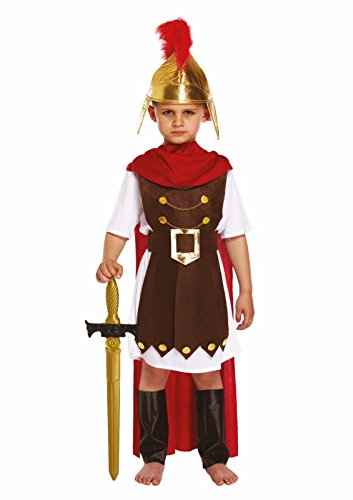 Soldier Outfit (GUBA Big Boys' Roman General Sparta Soldier Fancy Dress Outfit Costume Medium (Age 7-9) Boy'S Roman General)
