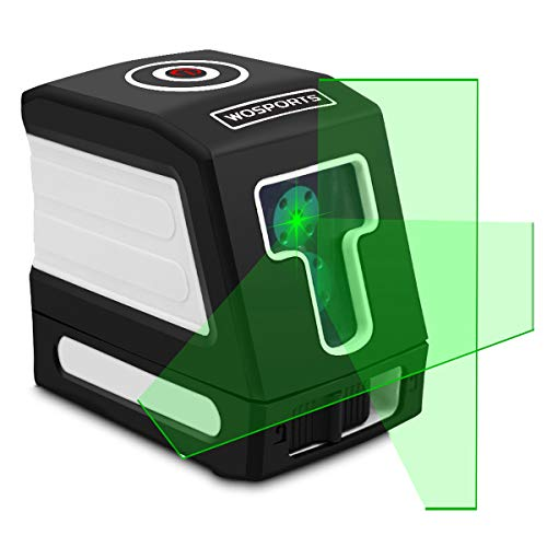 - Green Laser Level 100Ft Self-Leveling Cross-Line laser Horizontal and Vertical Lines Higher Visibility,Class 2,Less Than 1MW