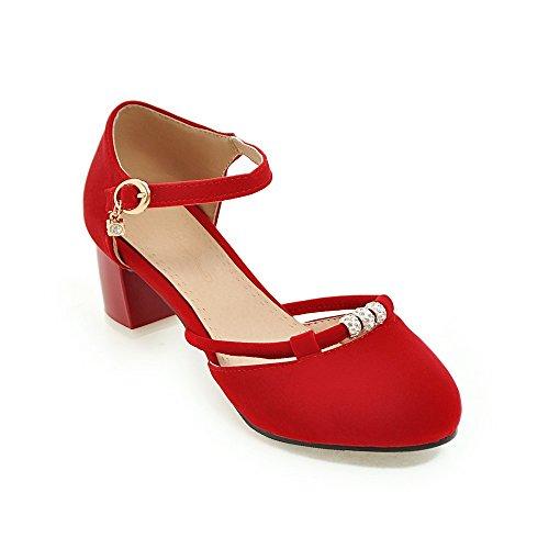 Caviglia Cinturino Alla rosso Tacco Basso QIN amp;X nbsp;Donna Sandali wxqY4aTvH
