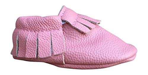 Lucky Love Baby Moccasins, Genuine Leather (6-12 months   size 3.5 US, Pink )