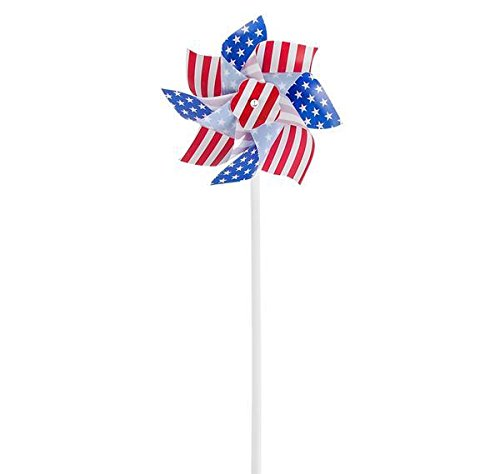 DollarItemDirect 6'' STARS AND STRIPES PINWHEEL, Case of 288 by DollarItemDirect (Image #1)