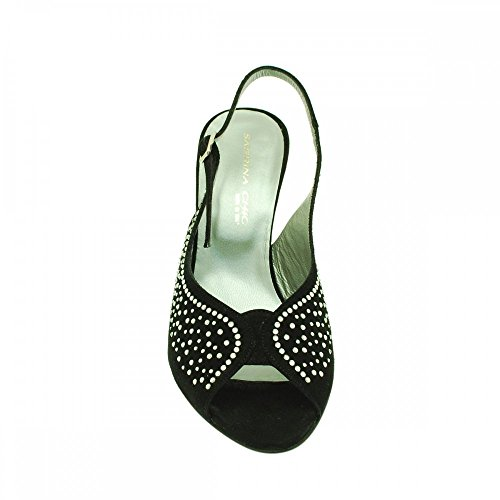tacón Chic mujer con Sabrina negro Zapatos q1gHqTz