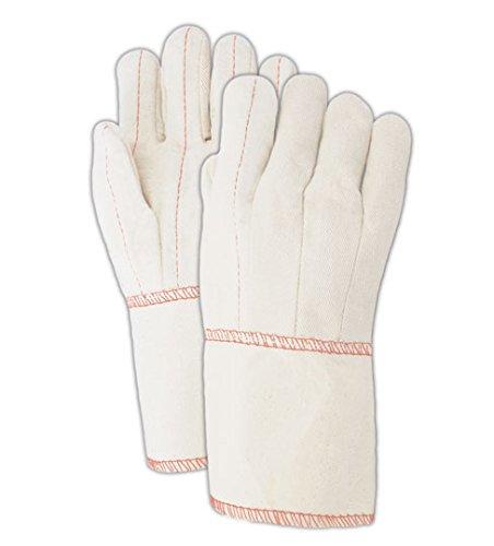 Mill Knit Hot (Magid 97GT Heater Beater 24 oz. Cotton Canvas Hot Mill Gloves, Standard, White (One Dozen))