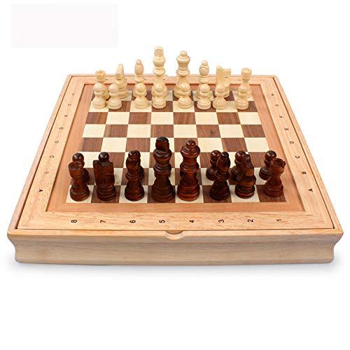 GJXQ-GSY Patrón Piezas de ajedrez Madera Madera Mesa de Centro Tablero de ajedrez Profesional Juegos Familiares Juego de...