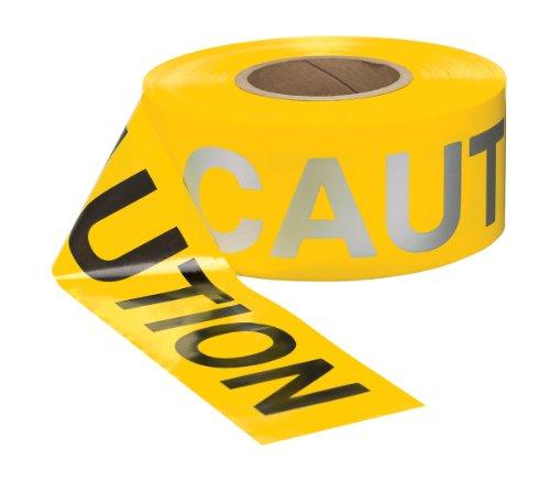 Accuform MPT231 Reflective Plastic Barricade/Perimeter Tape, Legend