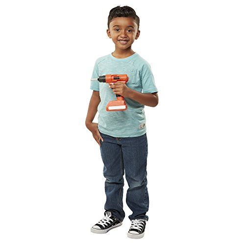 BLACK+DECKER Jr. Electronic Power Drill, Boys, Kids Pretend Play Tool with Realistic Light, Sound & Action! from BLACK+DECKER