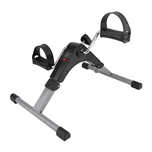 Portable Pedal Exerciser Deluxe Folding Exercise Peddler with Electronic Display, Arm & Leg Exercise Peddler Machine Exercise Bike Leg Machine Indoor Limbs Training Sports Workout Fitness (Deluxe Pedal Exerciser Electronic)