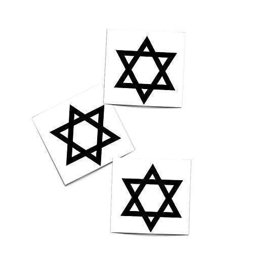 Designs Tattoos Religious (Tattoo Moments Religious Faith Temporary Tattoos - Star Of David Temporary Tattoo Judaism - Perfect for Arm or Wrist (3 Tattoos))