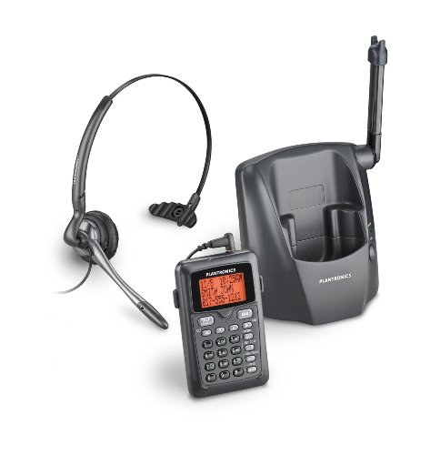 Plantronics Professional Lightweight Single-line 2.4GHz Cordless Convertible Noise Canceling Telephone/headset System Ideal for Home and Small-office Use