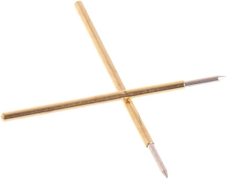 JunYe 100 Pezzi Sonda per Test a Molla Pogo Pin P50-B1 Diametro 0,5 mm Lunghezza 16,35 mm