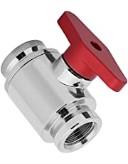 Water Cooling Valve G1/4 Internal Threads Valves Water Ball Valve for Computer Water Cooling System(Red Handle)