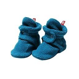 Zutano Unisex-Baby Cozie Fleece Bootie, Pagoda, 6 Months