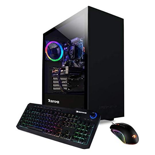 iBUYPOWER Pro Gaming PC Computer Desktop ARCB 108Av2 (AMD Ryzen 3 3100 3.6GHz, NVIDIA GT 710 1GB, 8GB DDR4 RAM, 1TB HDD…