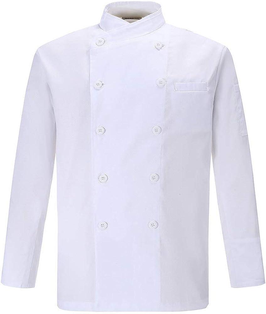 Nanxson Unisex Short Sleeve Chef Coat Lightweight Men's Chef Jacket with Breathable Mesh CFM0029