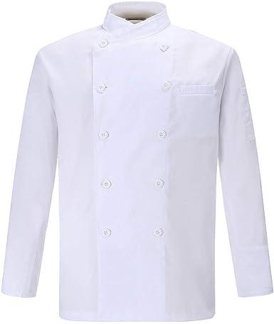 Chaqueta de chef para hombre de algodón transpirable uniforme de cocina Ropa de trabajo CFM0028: Amazon.es: Ropa y accesorios