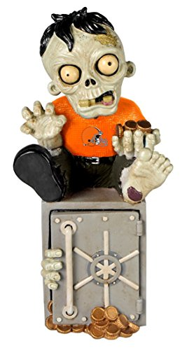 Forever Collectibles NFL Cleveland Browns Zombie Figurine, Team Color, One Size ()
