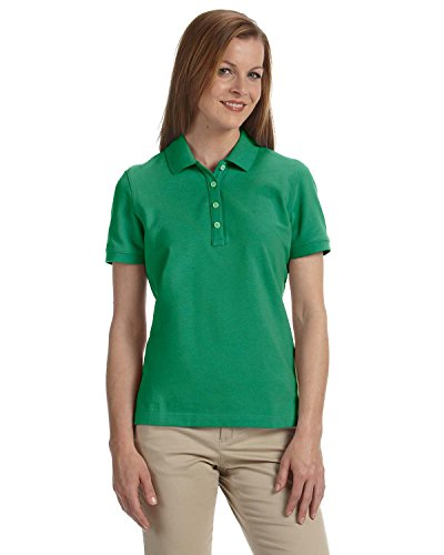 (Ashworth Ladies Combed Cotton Pique Polo Shirt - PINE -)