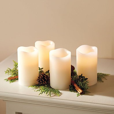 Loft-Living-Flameless-LED-Pillar-Candles-with-Timer-in-Ivory-Set-of-4