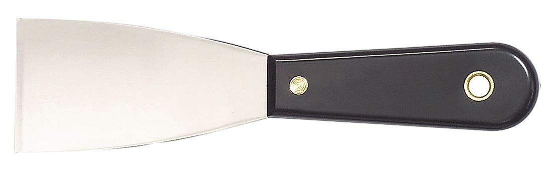 Westward 7-1/4'' Putty Knife with 2'' Carbon Steel Blade, Black - 13A667 ( Pack of 5 )