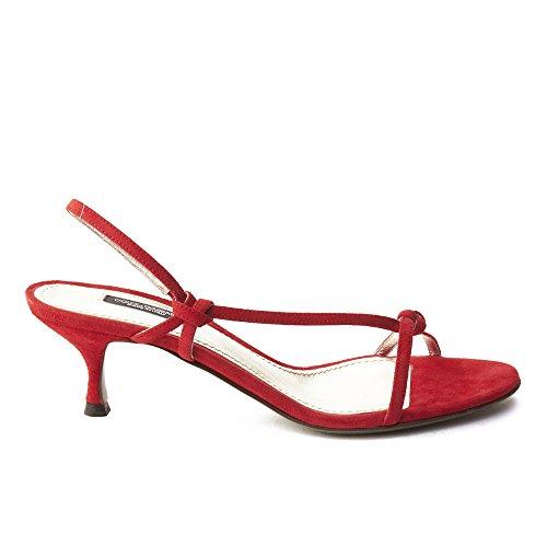 Dolce & Gabbana Scarpe Da Donna Con Tacco Basso In Camoscio Color Rosso