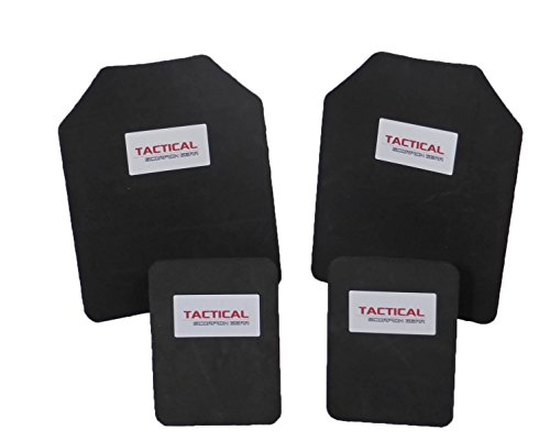 Tactical Scorpion 10mm Paintball Airsoft Pair 10x12+6x8 Protective Vest Plates