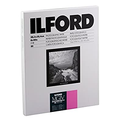 Ilford Multigrade IV RC Deluxe Resin Coated VC Variable Contrast - Black and White Enlarging Paper, 8x10 Inches, 25 Sheets, Glossy Surface (116 8190) from Ilford