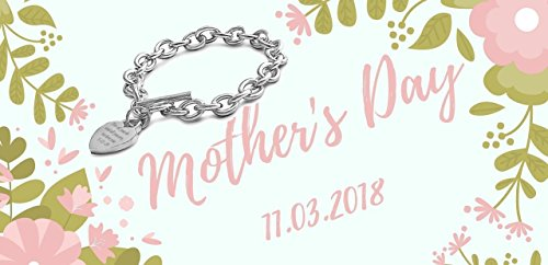 customized personalized Stainless Steel Designer Inspired Bracelet Mother's Day