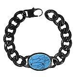 ZIVOM Stylish Salman Khan Rope Black Rhodium Turquoise Black 316L Surgical Stainless Steel Bracelet Boys Men